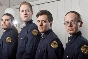 Jr.Lt. King, Jr. Lt. Cox, Lt. Morgan (XO), Major Darlington (CO)